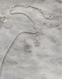 Pair your Star Charm with our Hazel Silver Beaded Necklace & Moon charm to create your own look