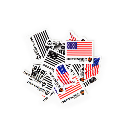 Patriot/911/USA/ American Flag Hard Hat Sticker Decal Pack by Defender Safety