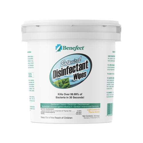 Benefect Botanical Disinfectant Wipes (250 Count)