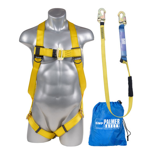 Full Protection 3pt. Body Harness and Lanyard Combo