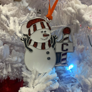Pewter Snowman Ornament