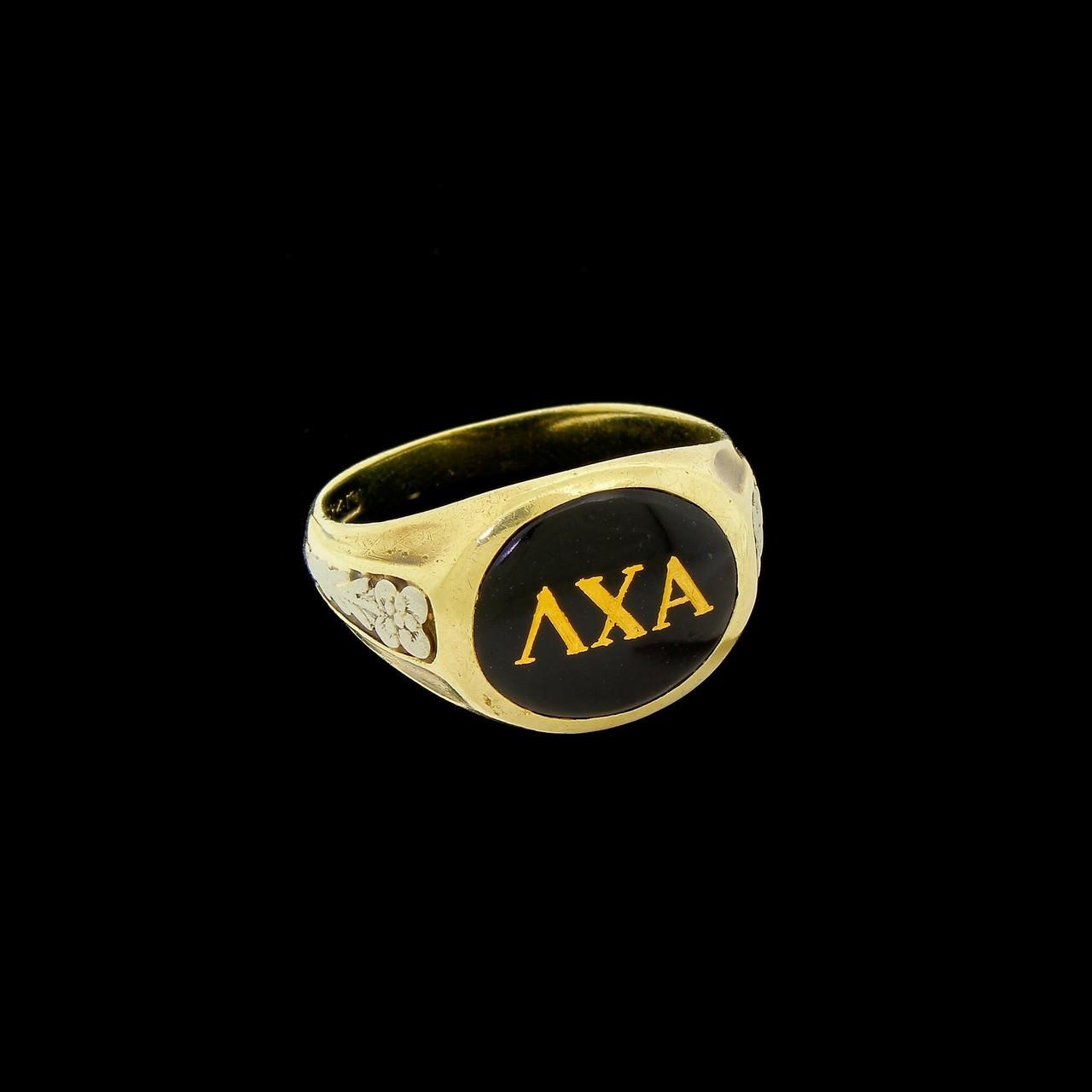 Early Vintage Art Deco 14k Gold Lambda Chi Alpha Fraternity