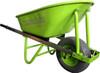 Builders wheel barrow with wide puncture proof wheel