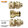 """Brass Garden Hose fitting set 3pc 3/4"""" 19mm  Maxi flow"""