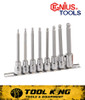 "8pc INHEX Hex Key socket set 3/8"" Drive Long series SAE GENIUS TOOLS"