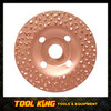 Carbide grit Sanding shaping carving wheel for wood 125mm