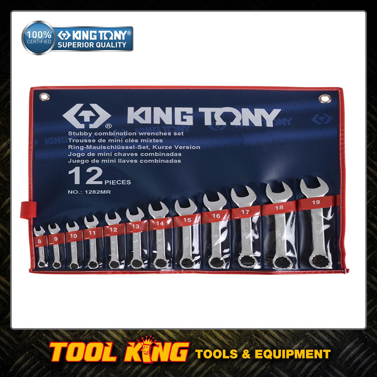 Spanner set Stubby 12pc  KING TONY Professional