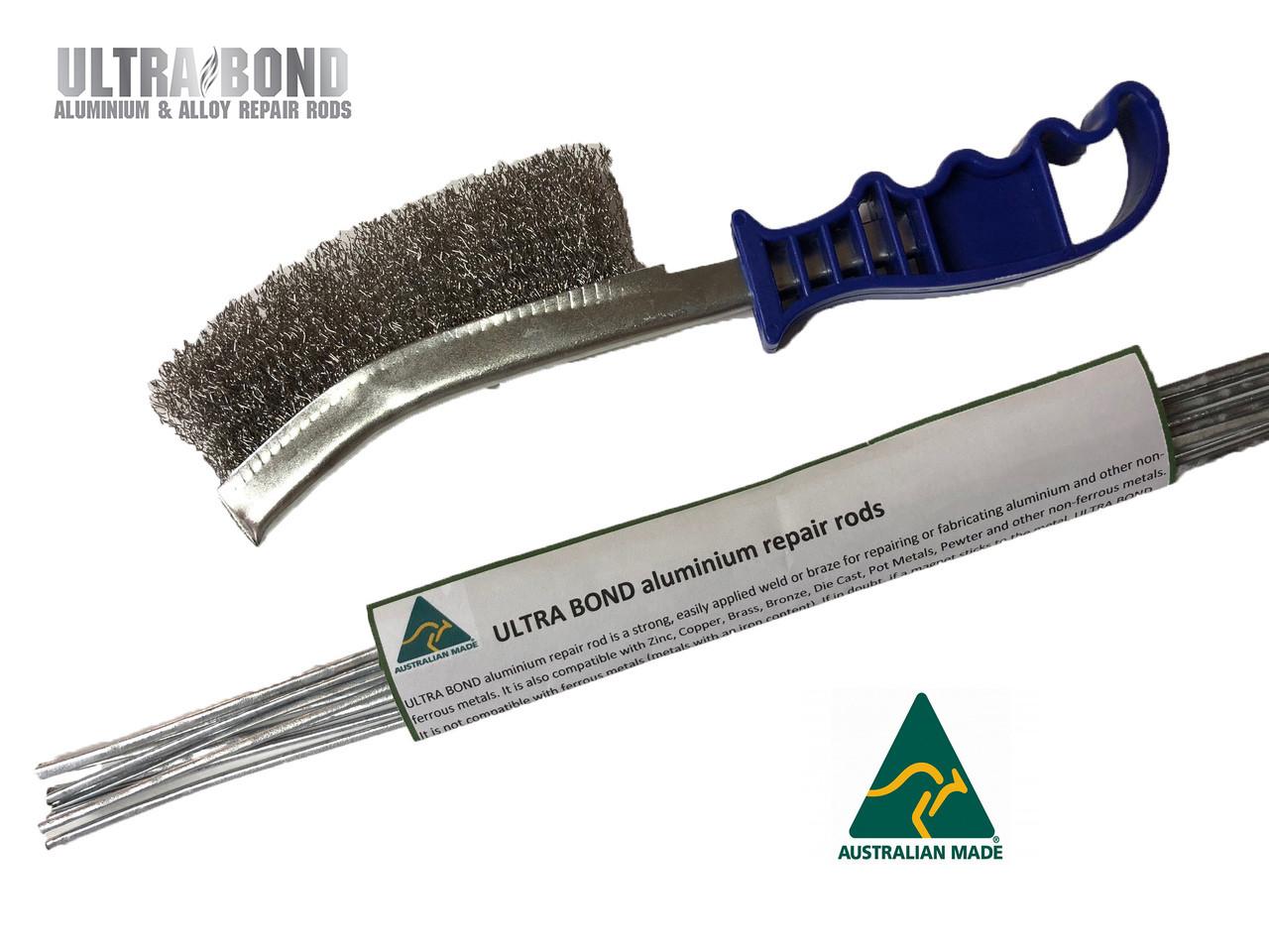 Aluminium repair rods Ultra Bond combo 8x rods plus wire brush Brazing, soldering, welding