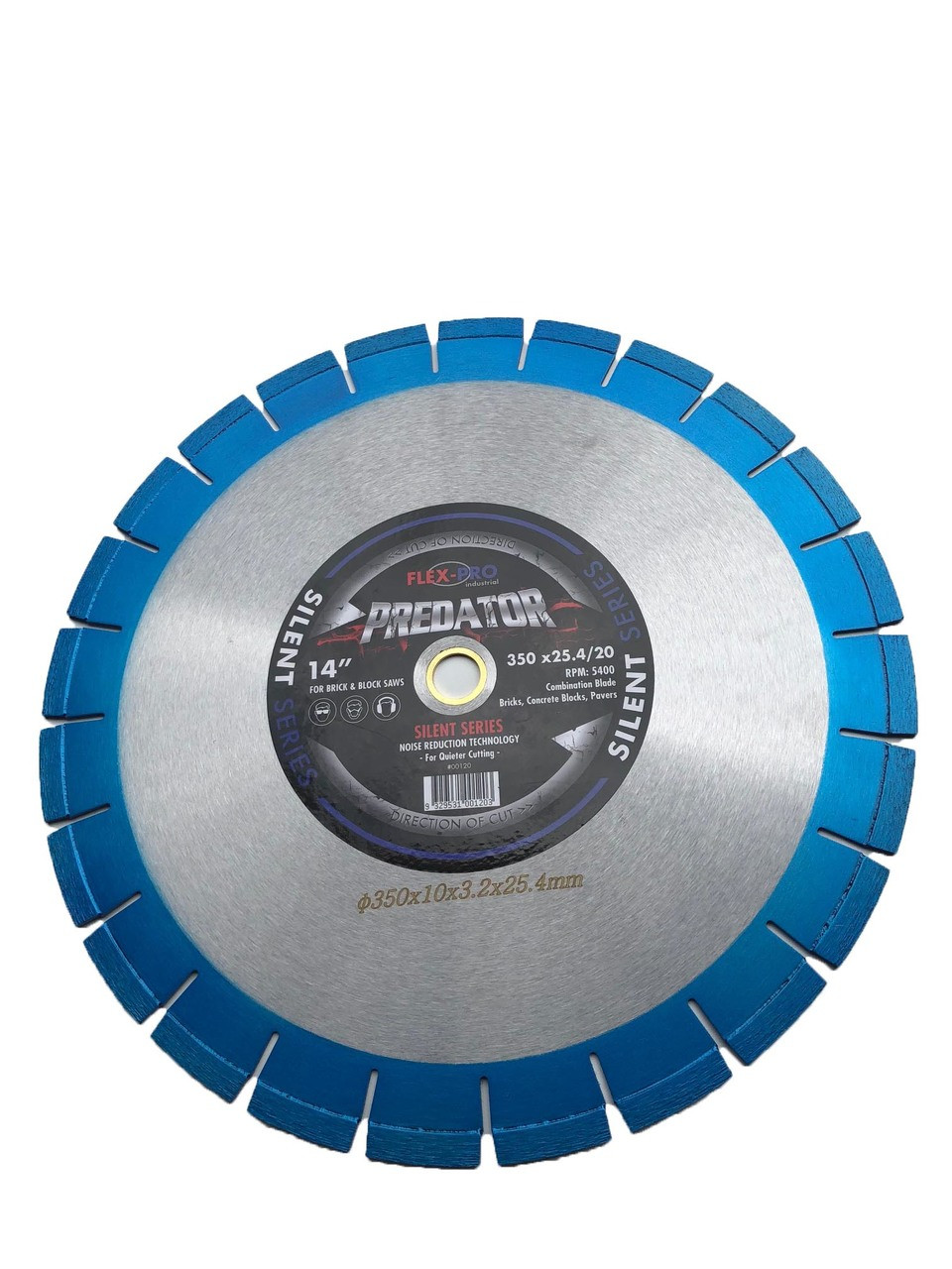 "Diamond saw blade 14"" Laser welded Reduced Noise SILENT FLEX PRO"