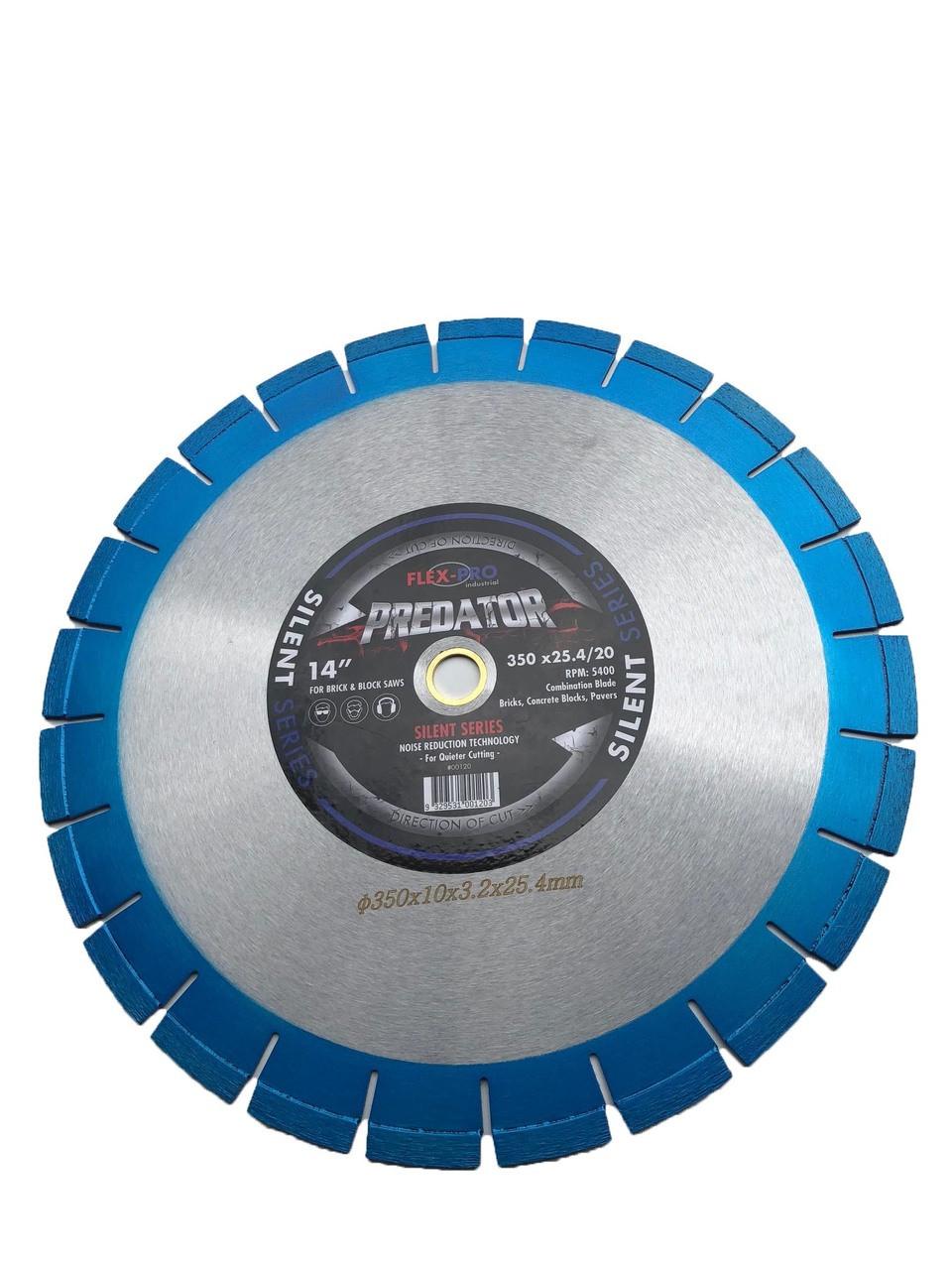 "Diamond saw blade 14"" Laser welded Reduced Noise SILENT FLEX PRO"