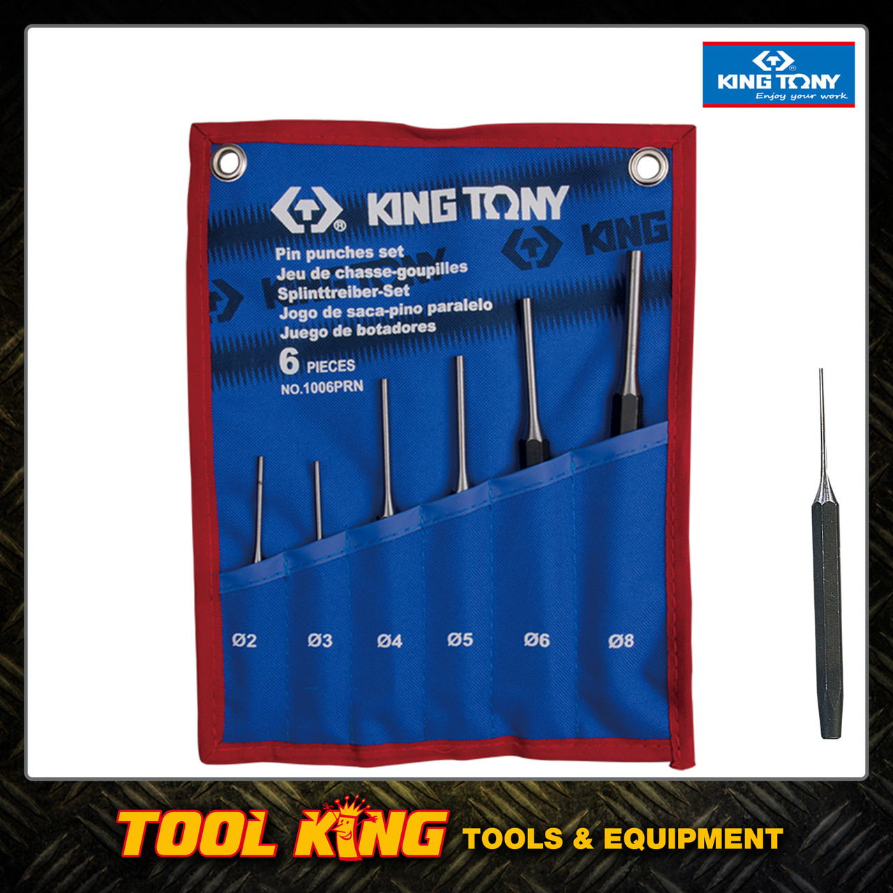 Pin punch set  6pc KING TONY Superior Quality