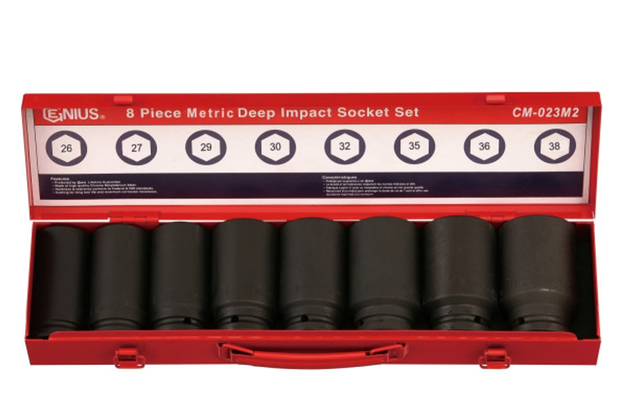 "3/4""DRIVE Impact Socket set 8pc Genius MET"