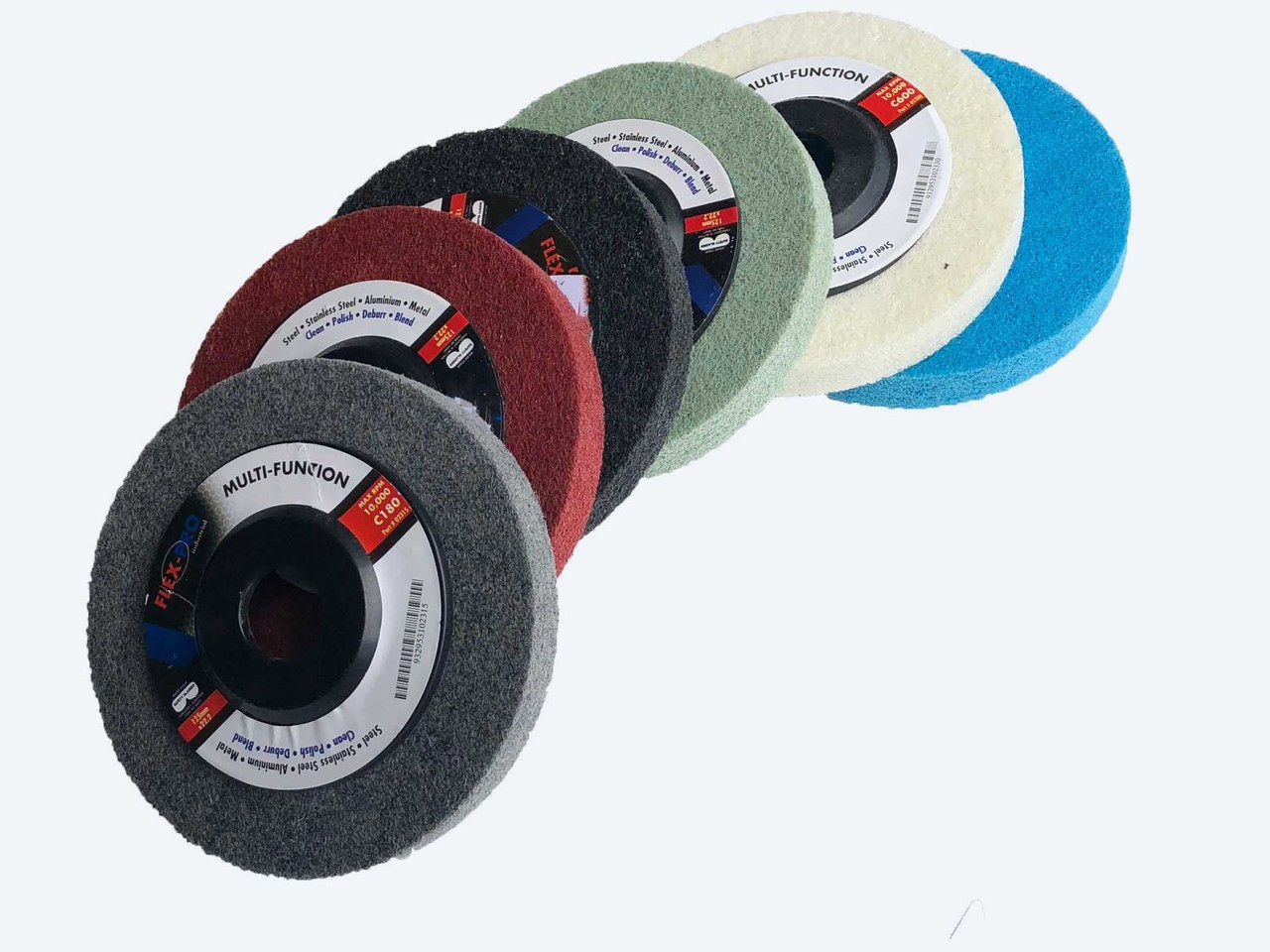 """Polishing discs for metal 5"""" x 6pc pack"""