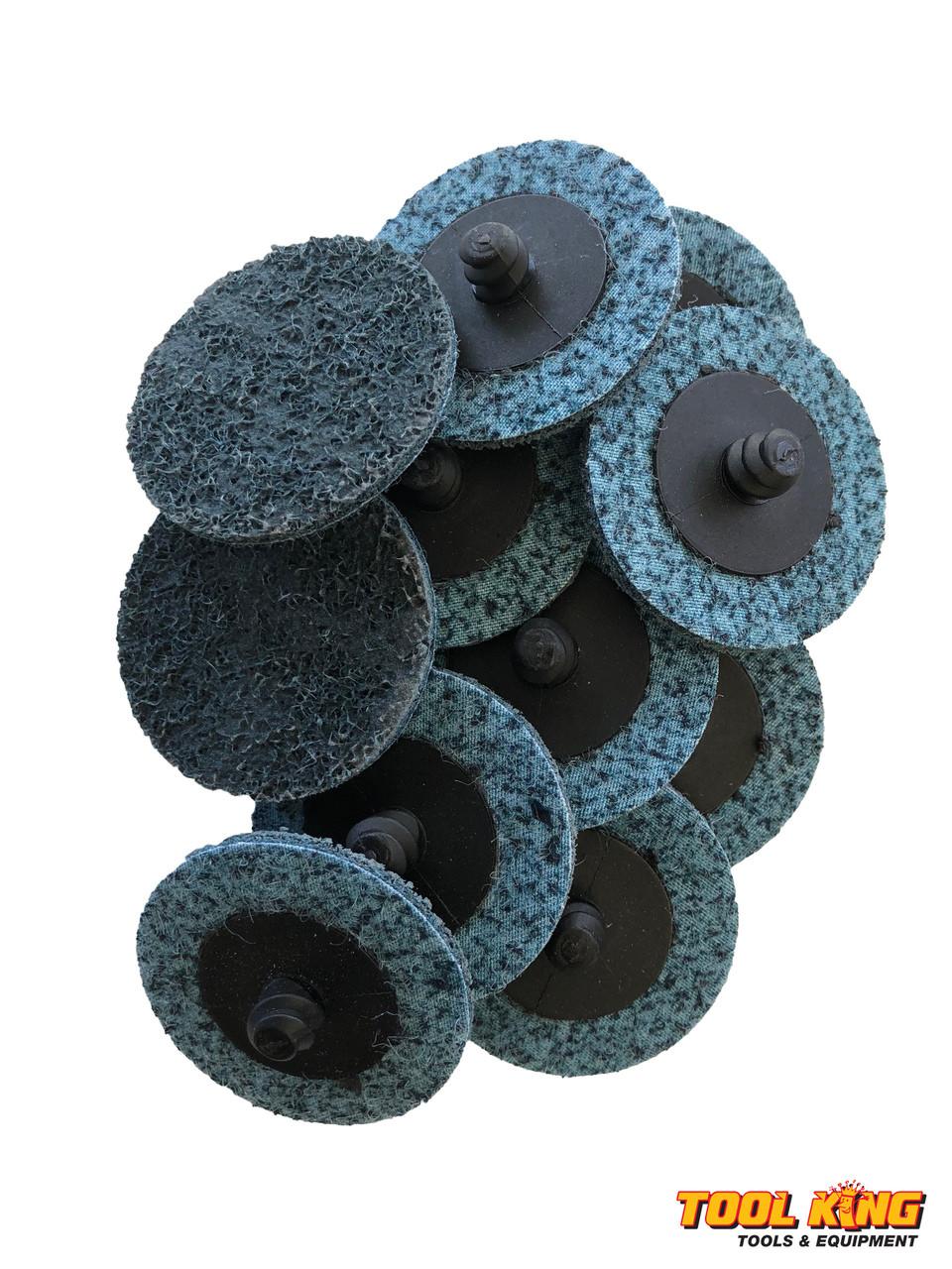 Blue fine grit 50mm x 10pc pack