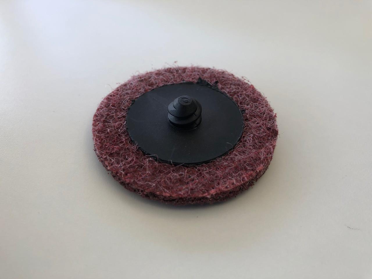 "2"" 50mm x  50pcs Scotchbrite ROLOC quick change surface conditioning discs Maroon Medium"