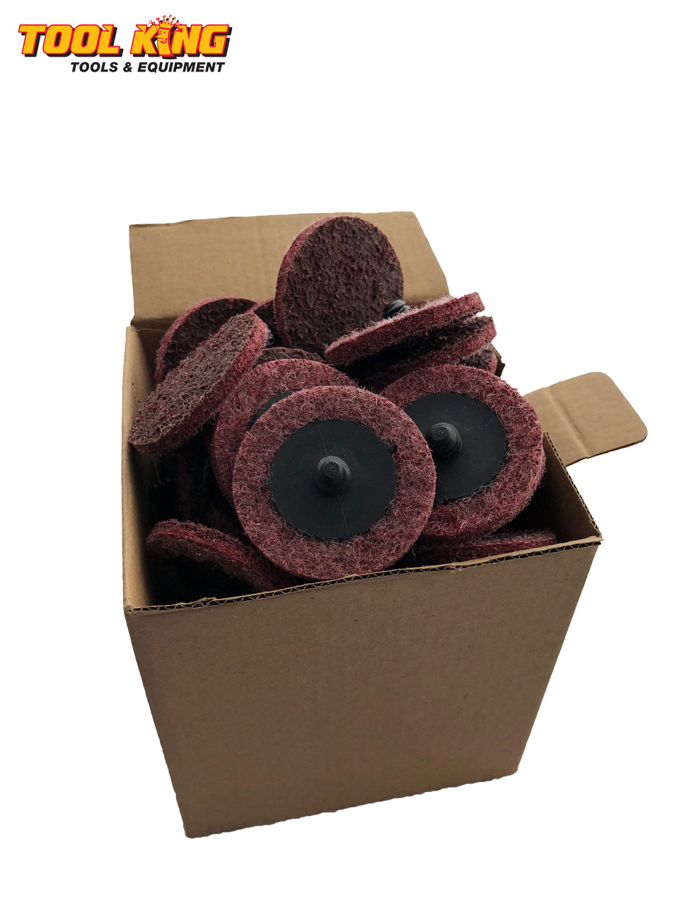 "2"" 50mm x  50pcs Scotchbrite ROLOC quick change surface conditioning discs Maroon Medium"
