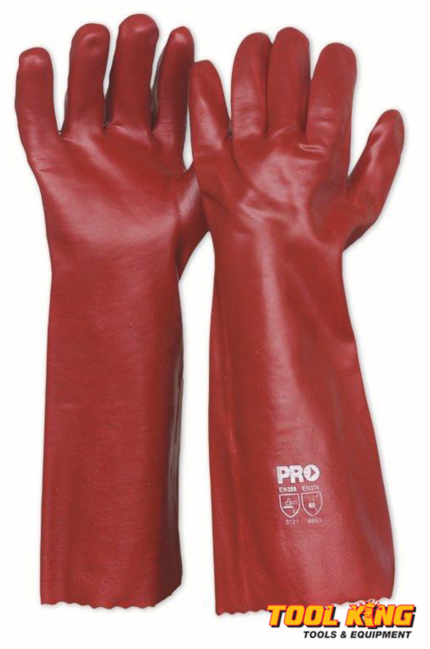 3 x PAIRS Chemical gloves 45cm long rubber glove