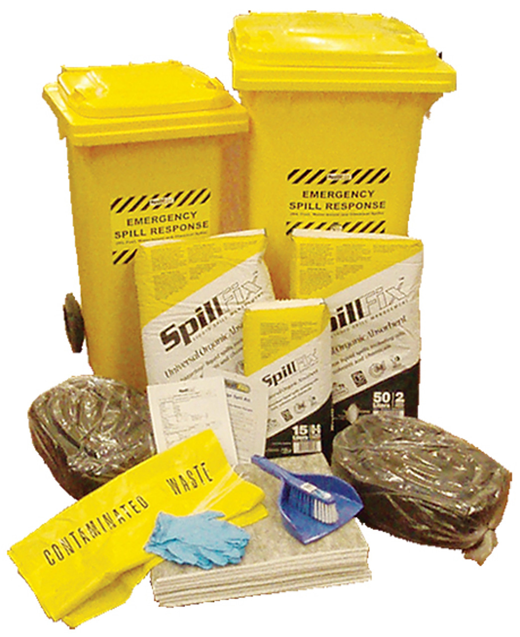 Spill kits workshop and vehicle