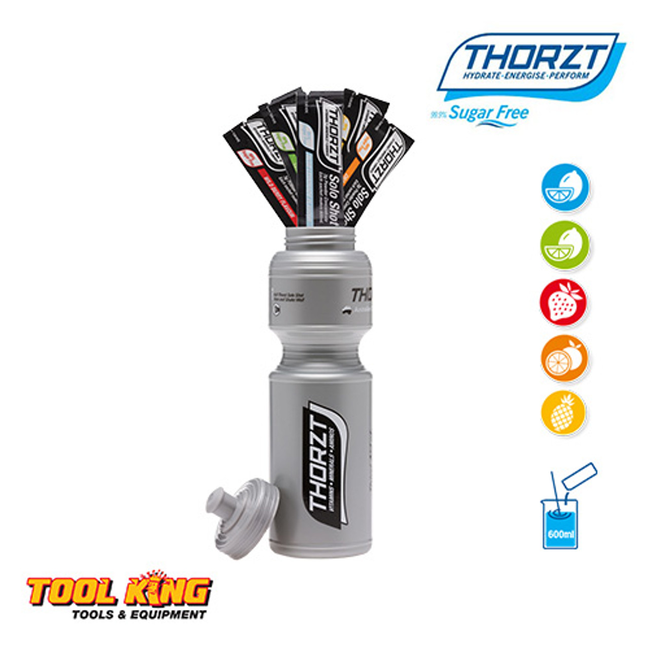 Thorzt Electrolite drink Tradies pack Drink bottle plus 5 x mixed shots