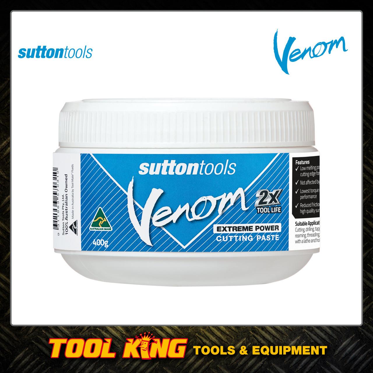 CUTTING PASTE Sutton Tools Venom 400g Extreme power AUSTRALIAN MADE