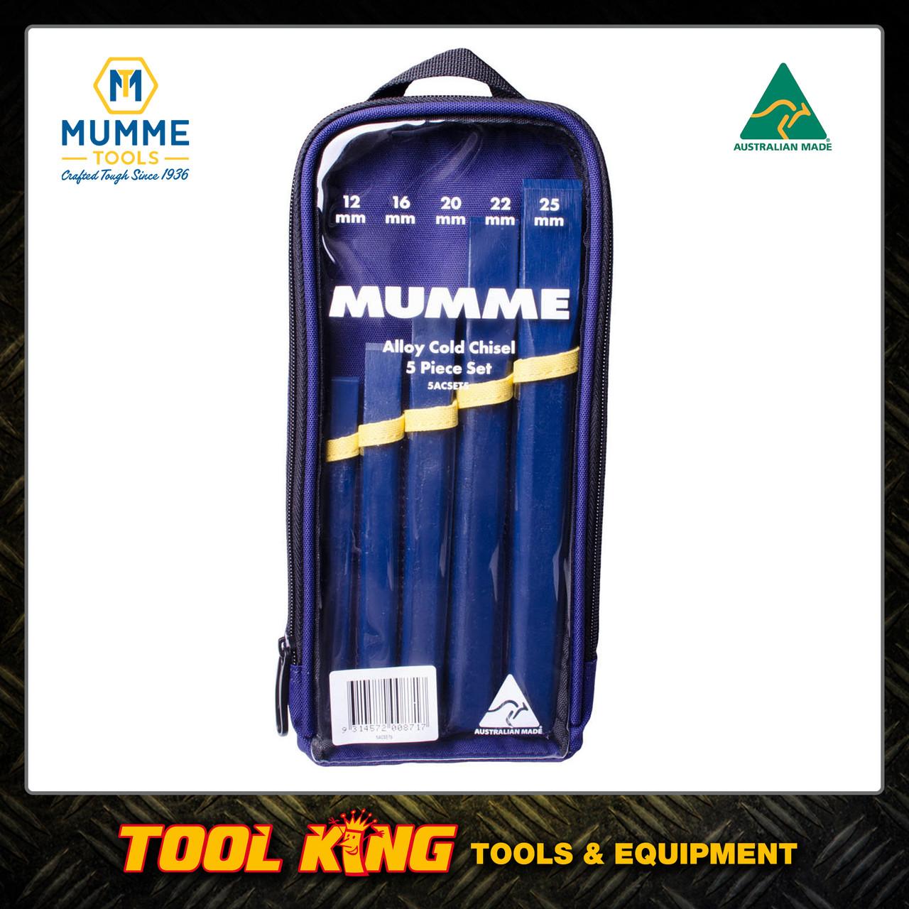 5pc Cold Chisel set Alloy steel MUMME Australian made
