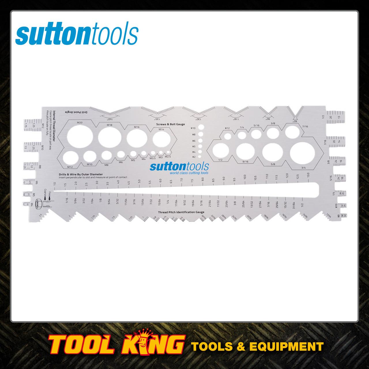 Sutton Multi Function Thread pitch, drill bit, screw and bolt gauge