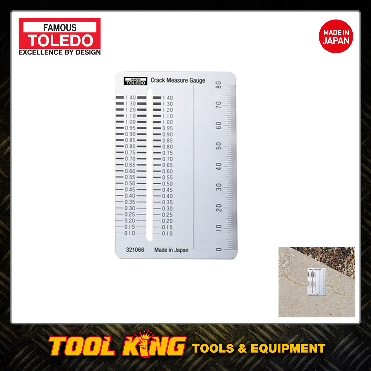 Crack measuring gauge TOLEDO professional Made in Japan