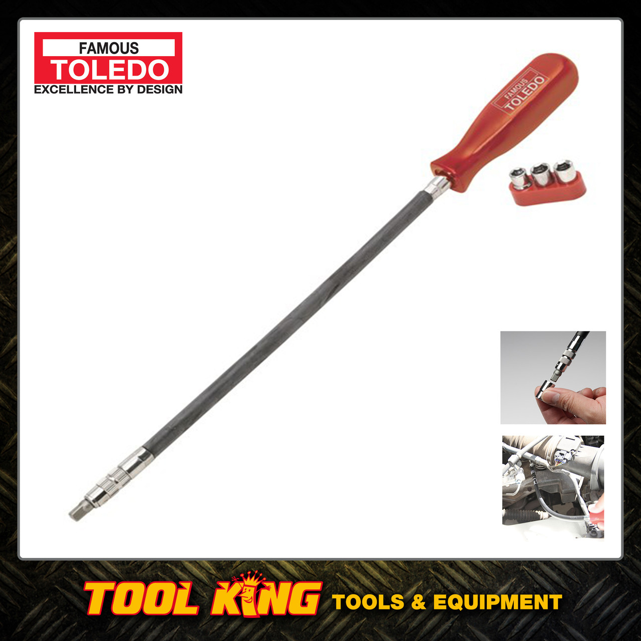 Hose clamp nut driver 300mm flexible TOLEDO professional