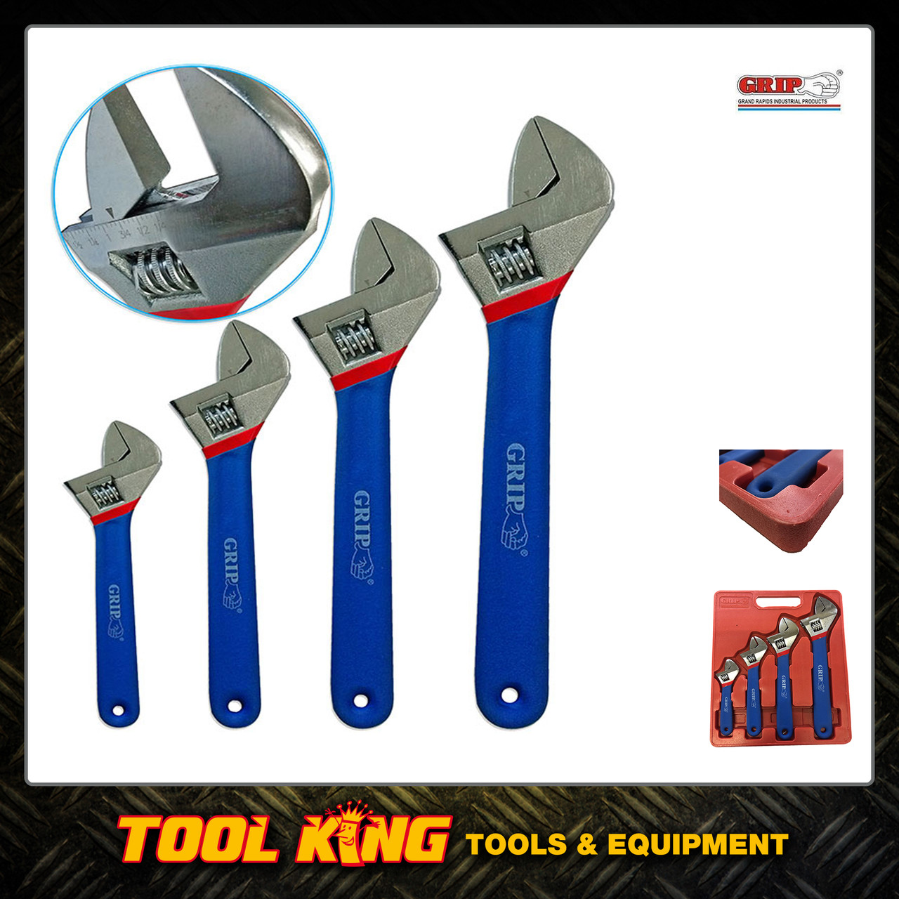 4pc Adjustable wrench shifter set