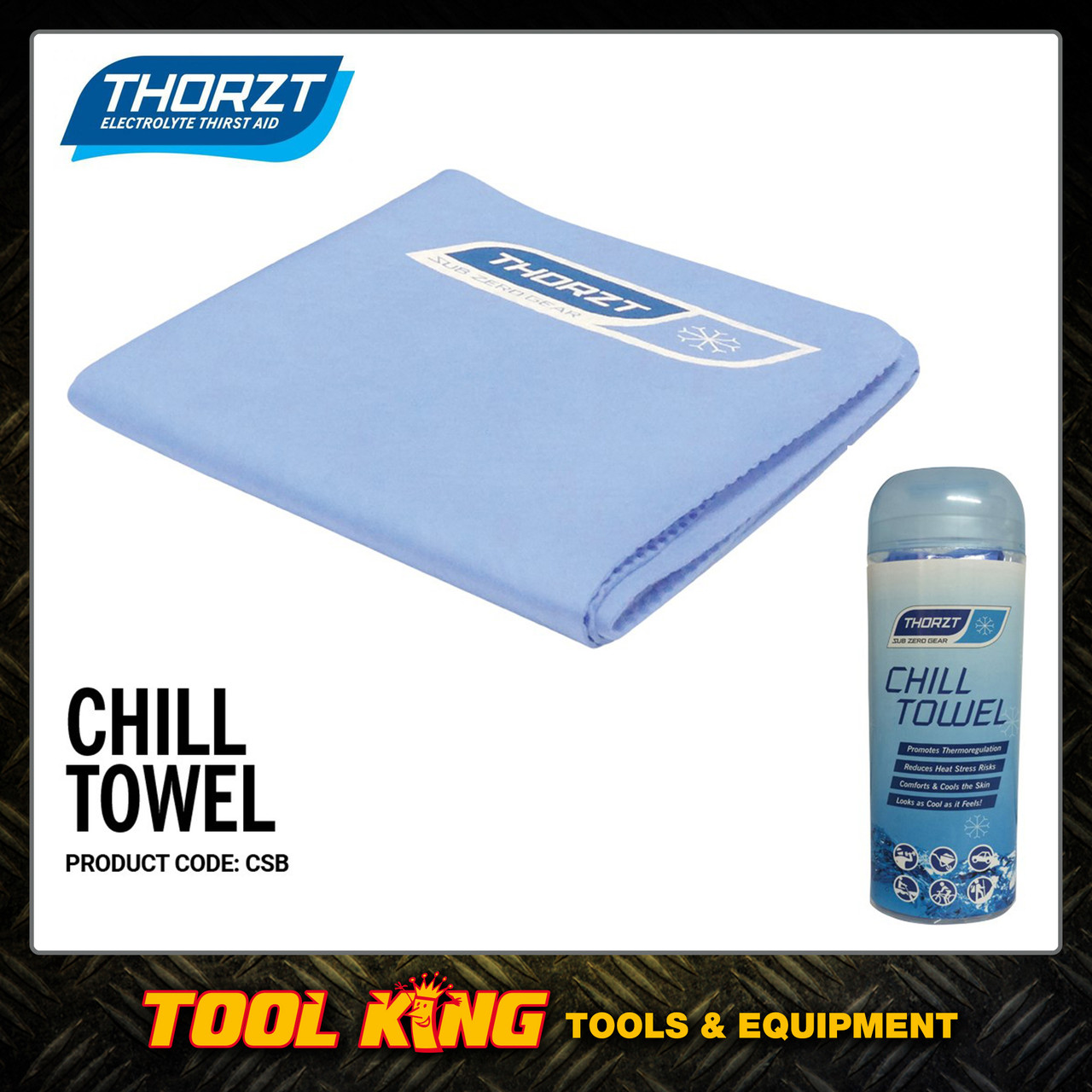 Thorzt Hydration Chill Towel Ideal for tradies Mines and Sports