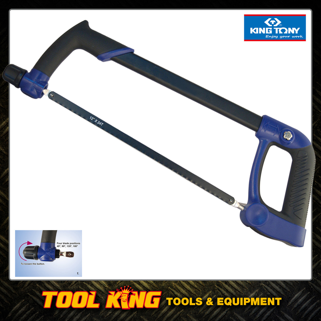 Hacksaw with cushion grip KING TONY Professional