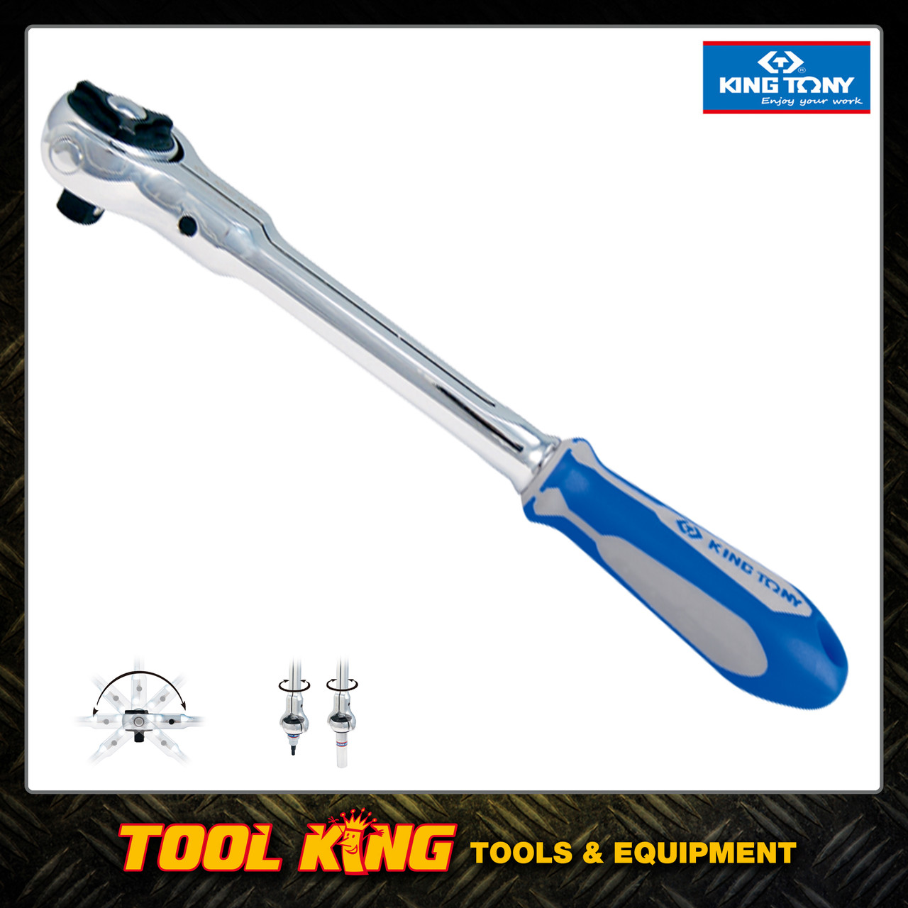 "Swivel head 1/2"" Drive Ratchet  KING TONY Professional"