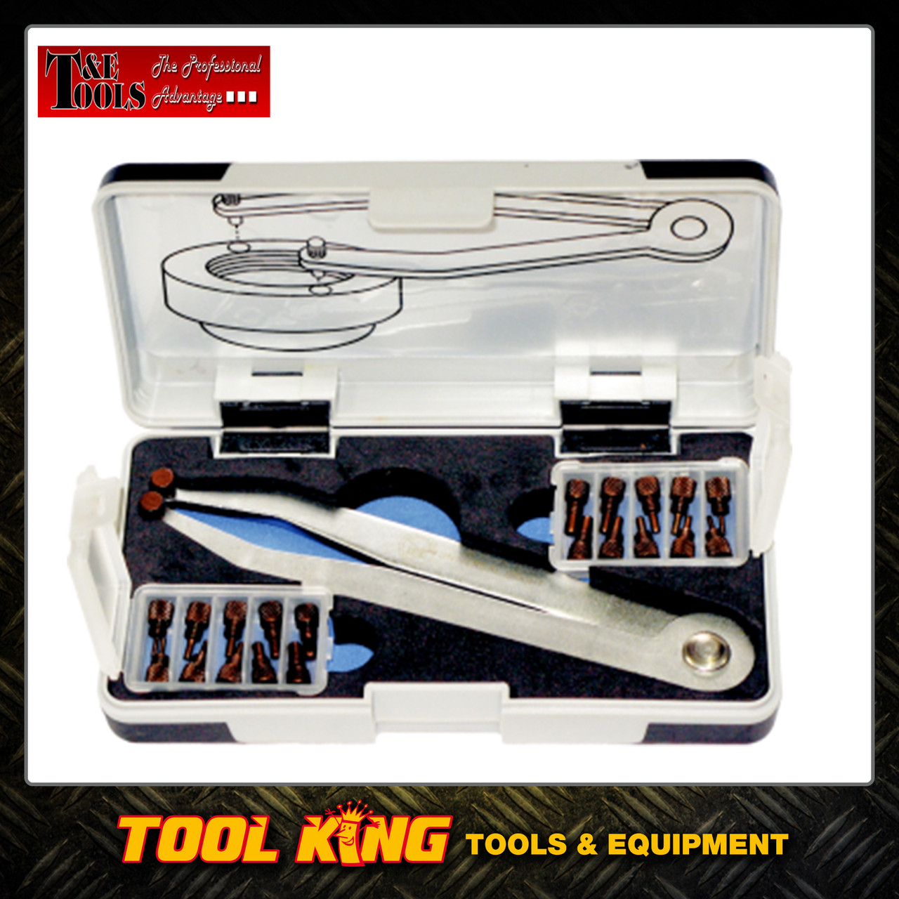 23pc Adjustable face pin wrench set T&E Tools