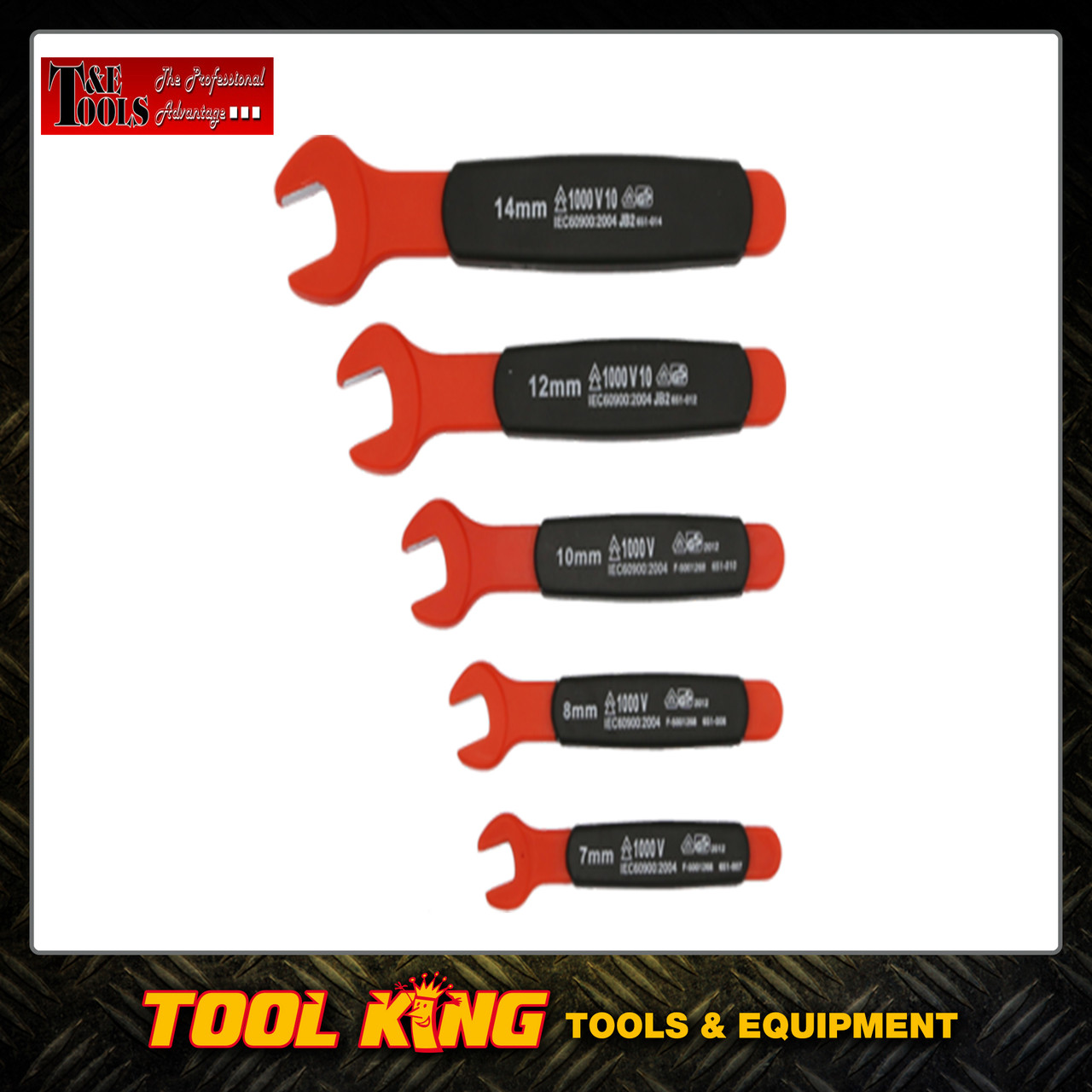 5pc VDE Insulated Spanner set 1000 Volt T&E Tools