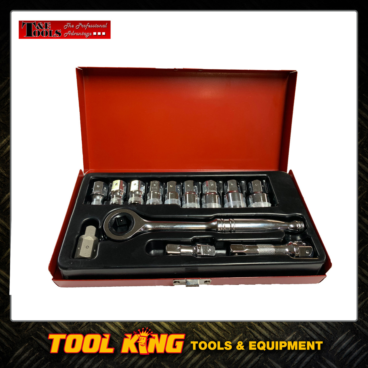 12pc Go through Socket set T&E Tools