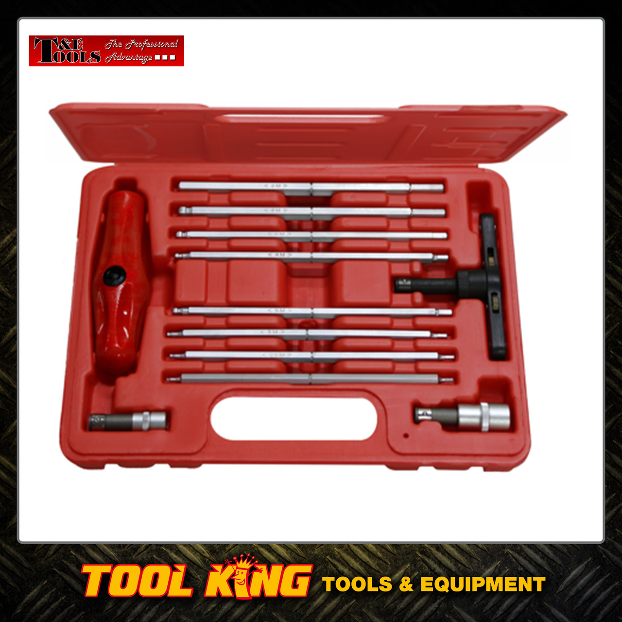 12pc T handle In-Hex key set SAET&E Tools