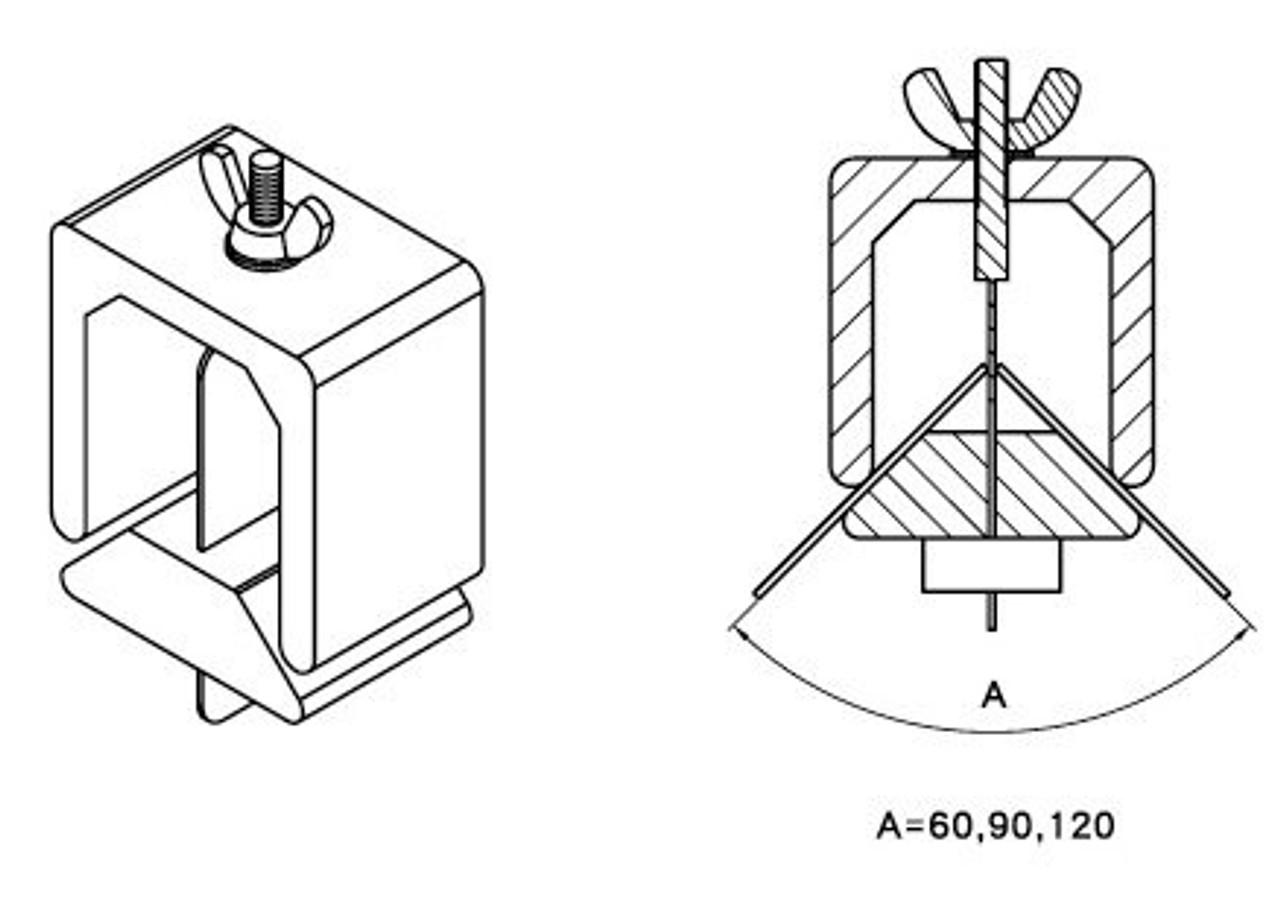 3 Angle welding clamp