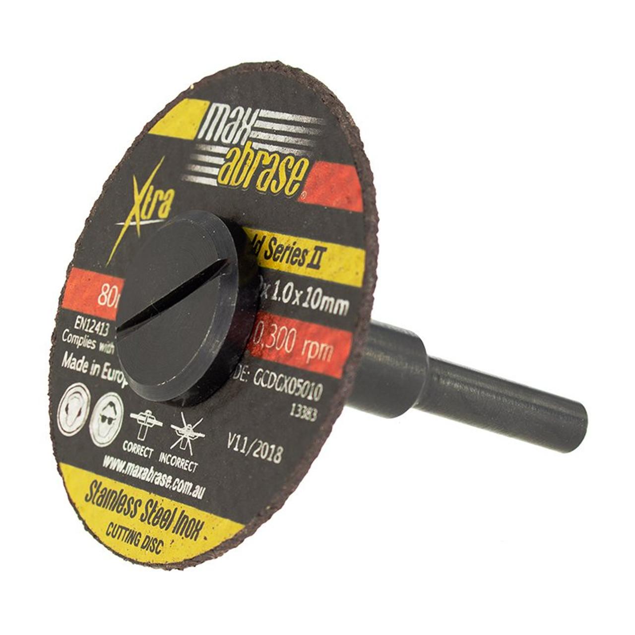 Cutting disc mandrel to suit die grinders etc