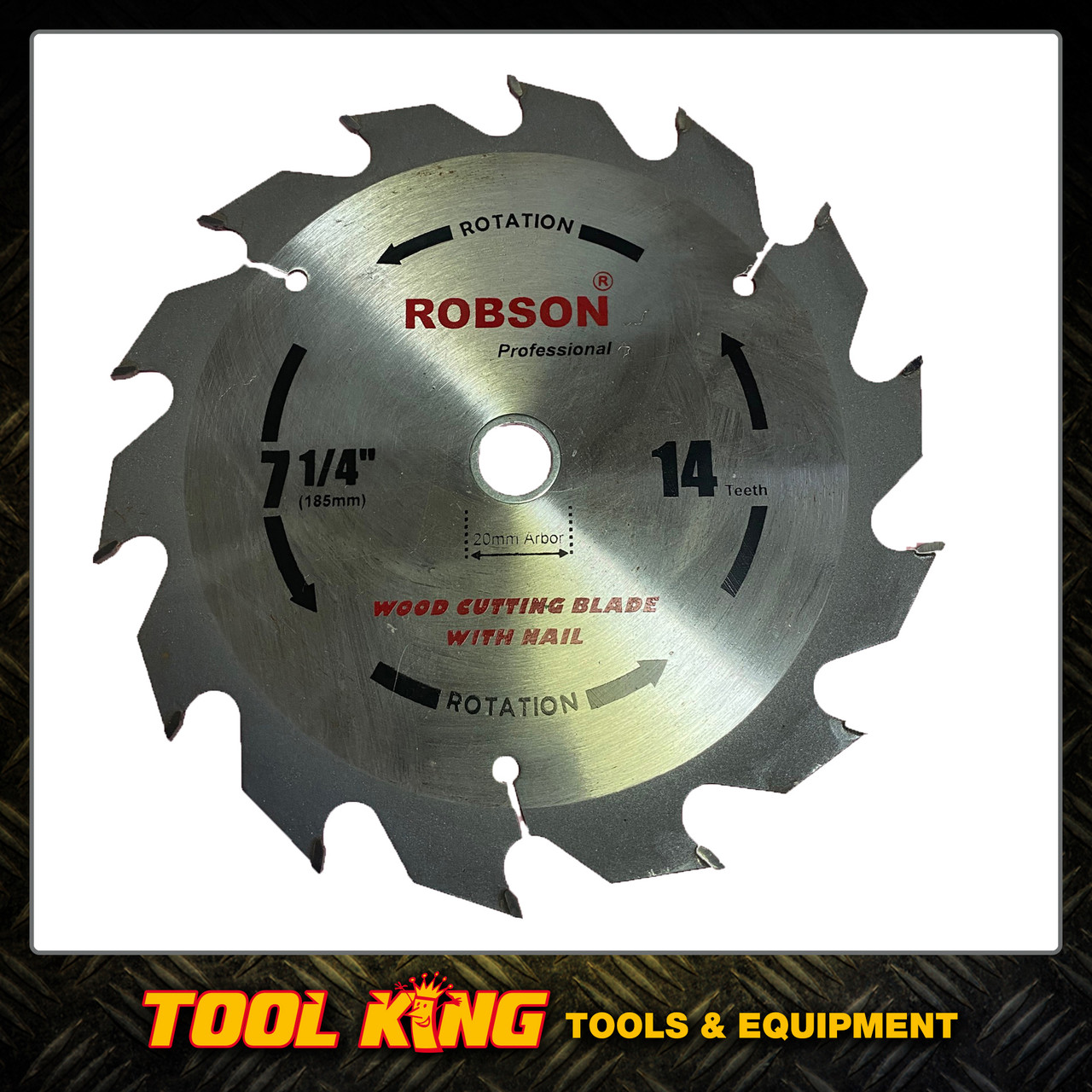"""Circular Saw blade 7-1/4"""" 184mm  14teeth  Superior grade for formwork & recycled timber"""