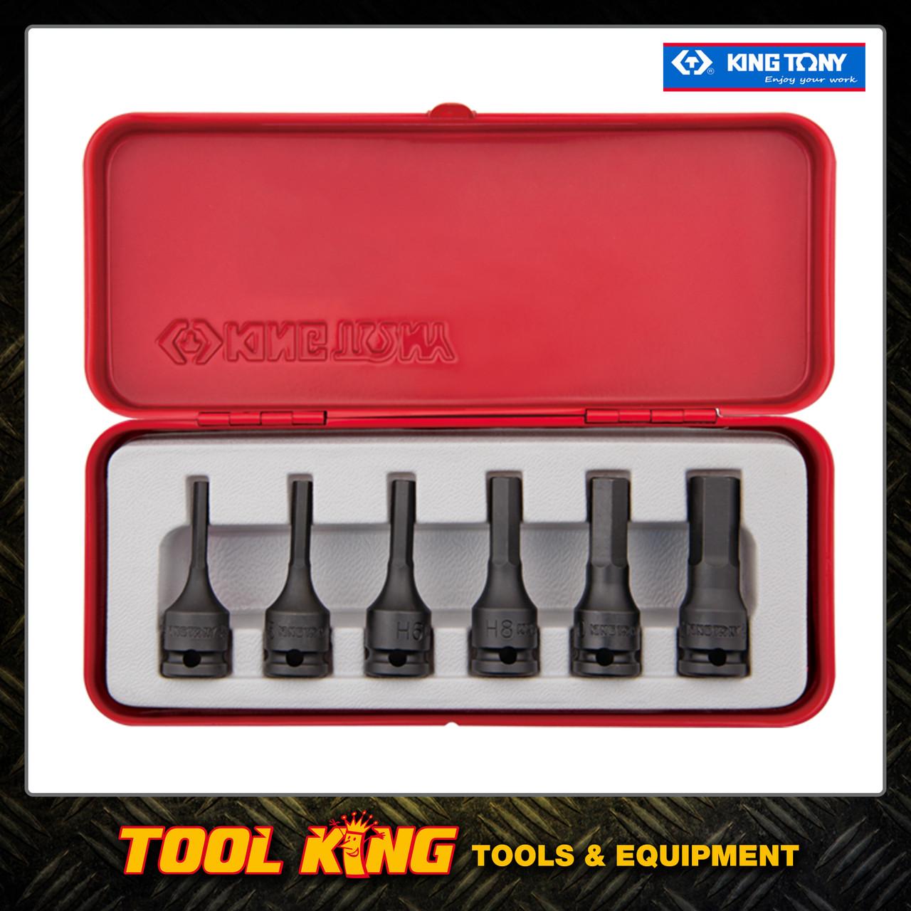 "6pc Metric Inhex Hex key Socket set 3/8""Dr King Tony"