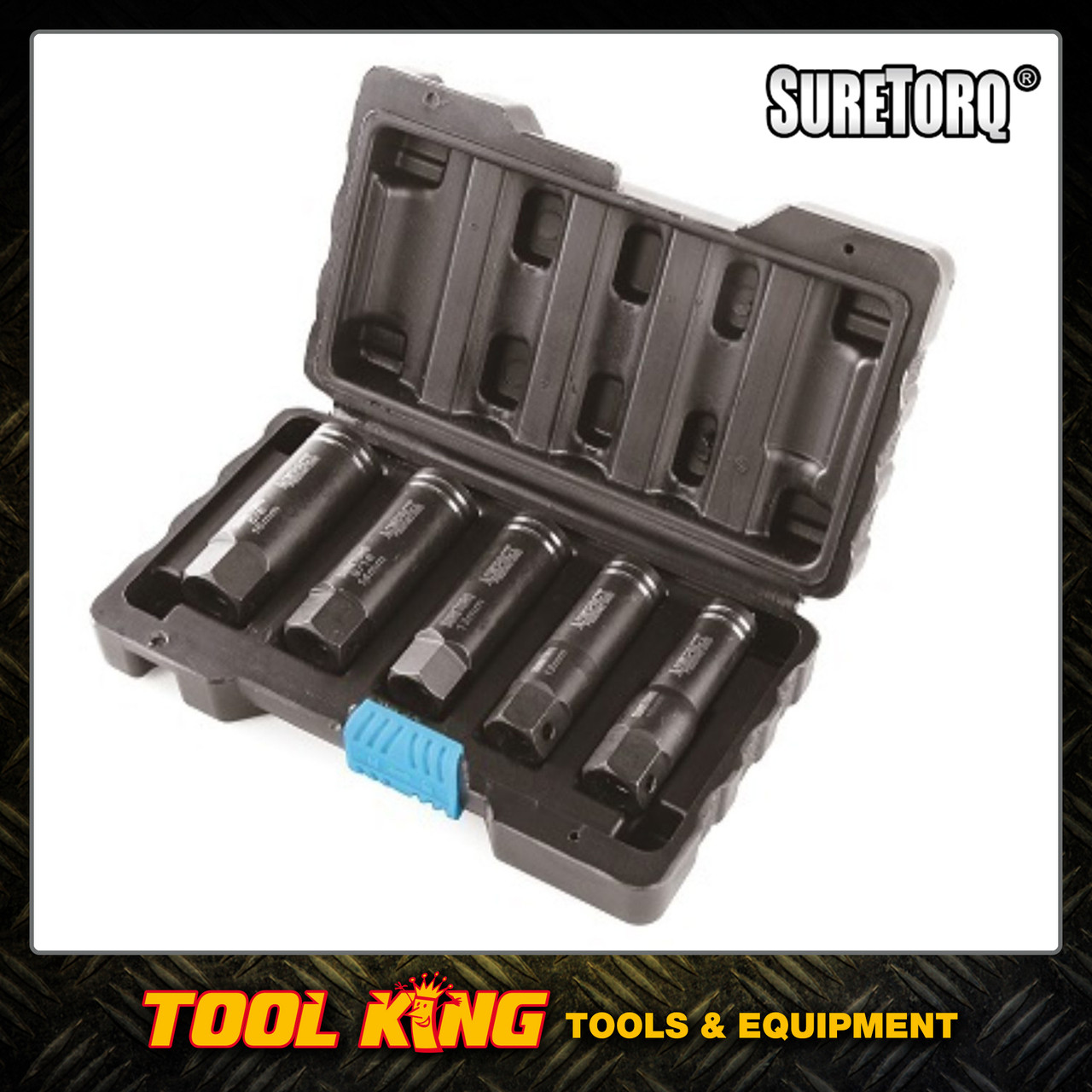 5pc Damaged nut & Bolt Extractor set Deep series