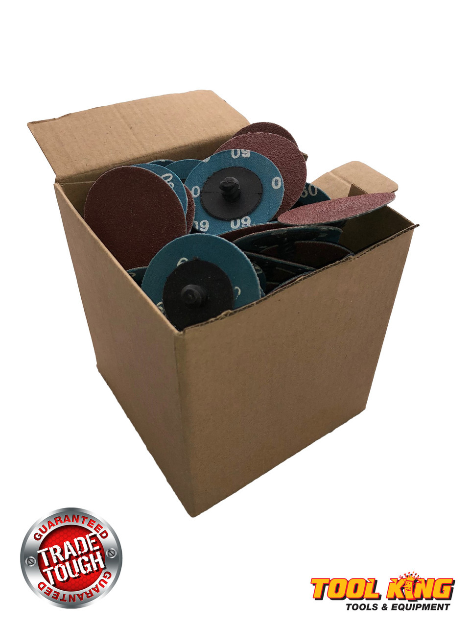 "Box of 100pcs x 2"" 50mm ROLOC quick change surface sanding discs 36grit"