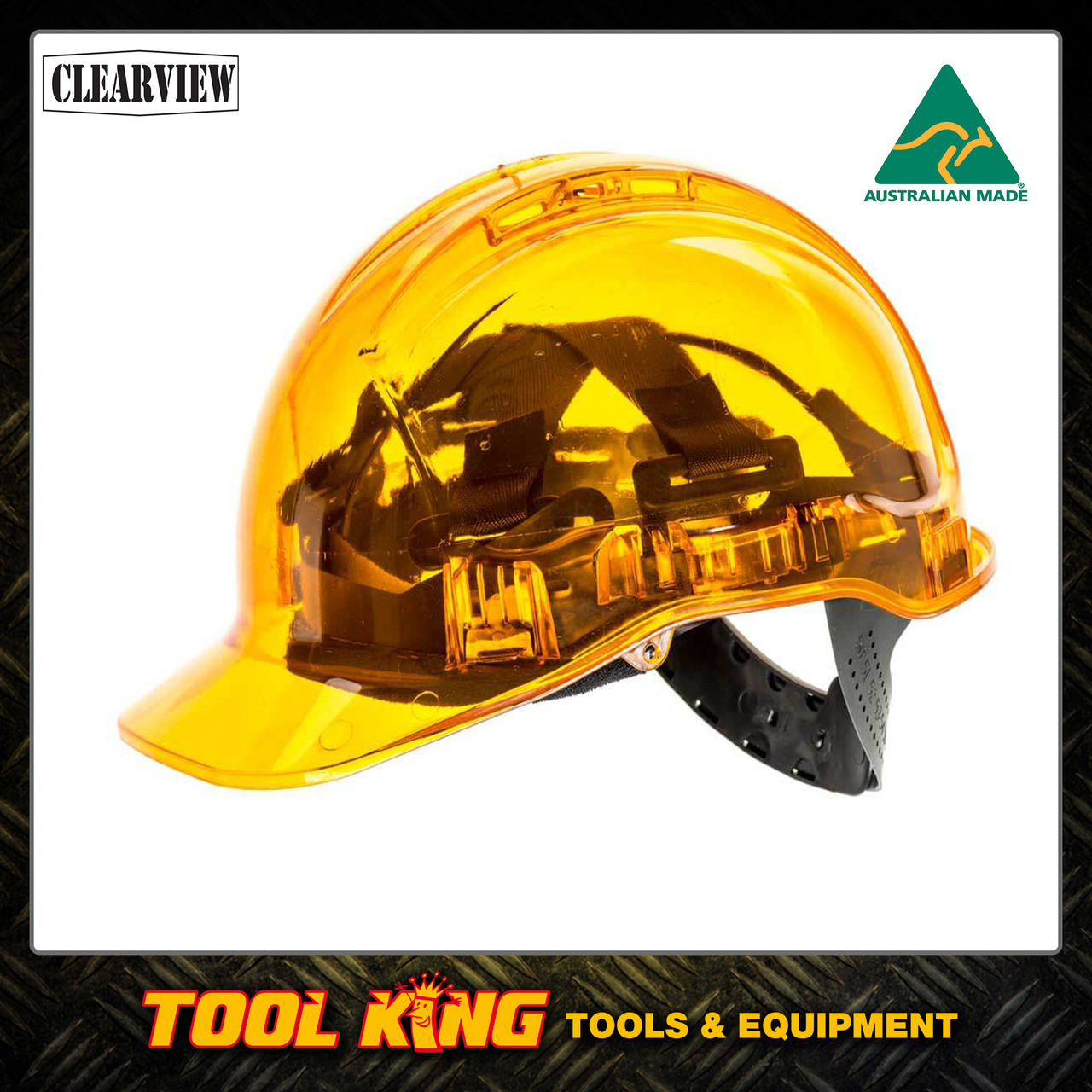 Hard Hat Clearview  vented ORANGE COLOUR  Australian Made