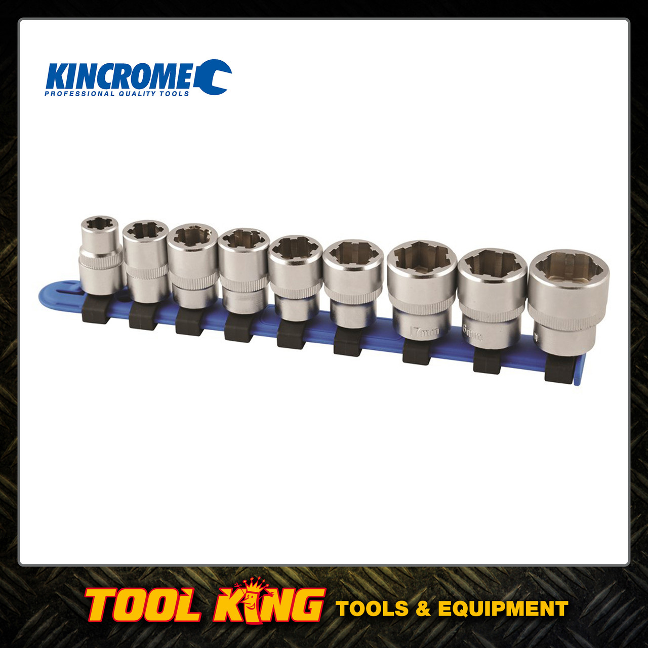 9pc Damaged Bolt extractor socket set Kincrome