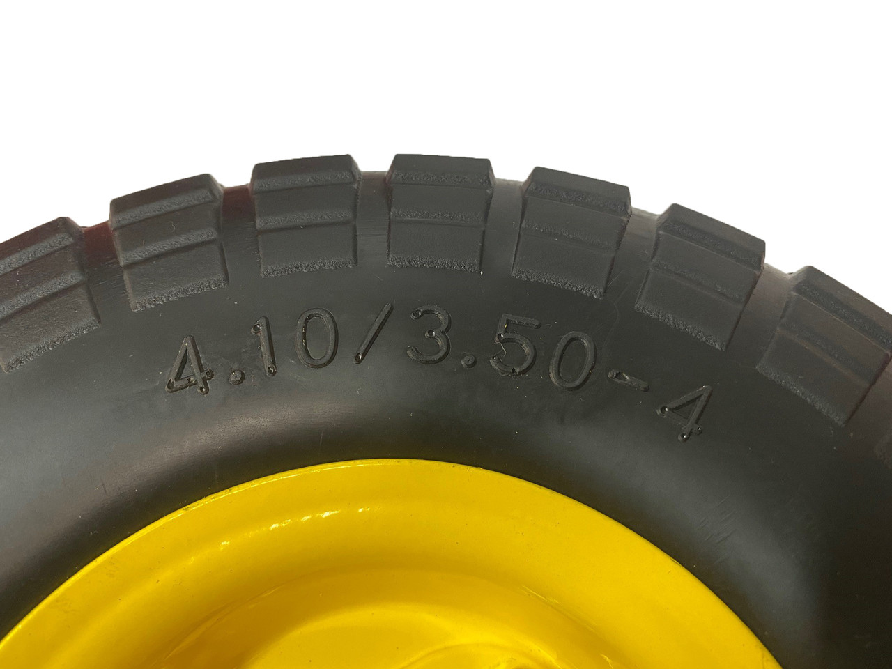 """Trolley wheel Double Hub Puncture proof  10"""" x 4.1-3.5"""