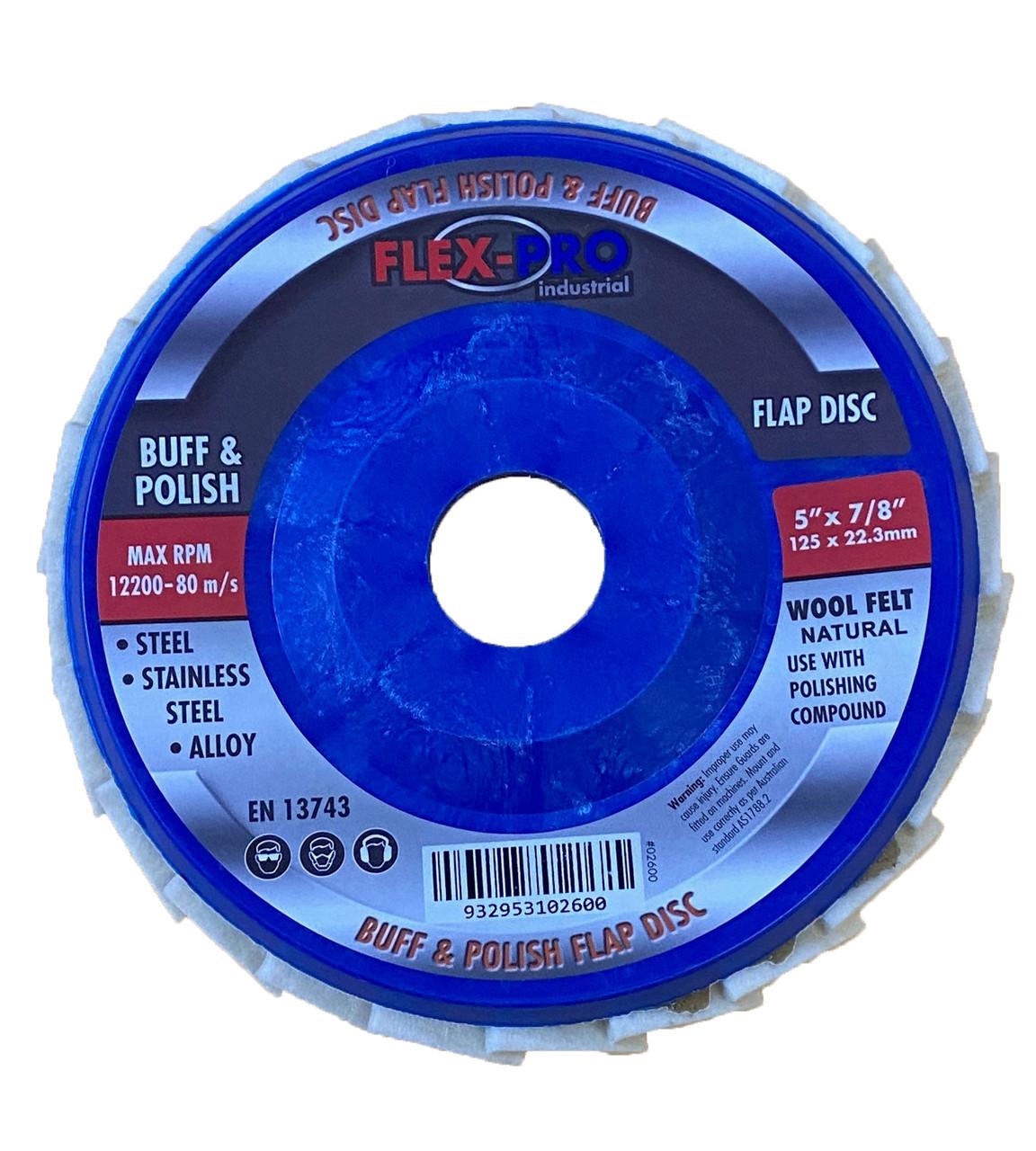 "Buffing and polishing Flap disc 5"" 125mm FLEXPRO"