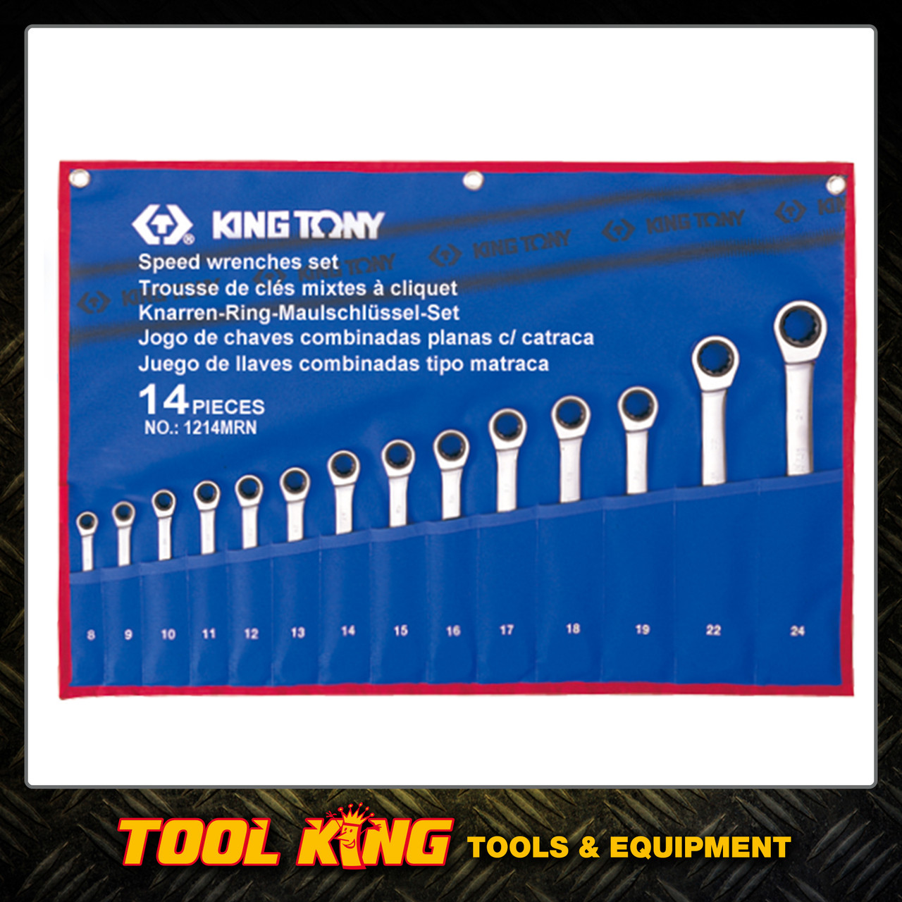 KING TONY 14pc Ratchet Spanner Set Metric