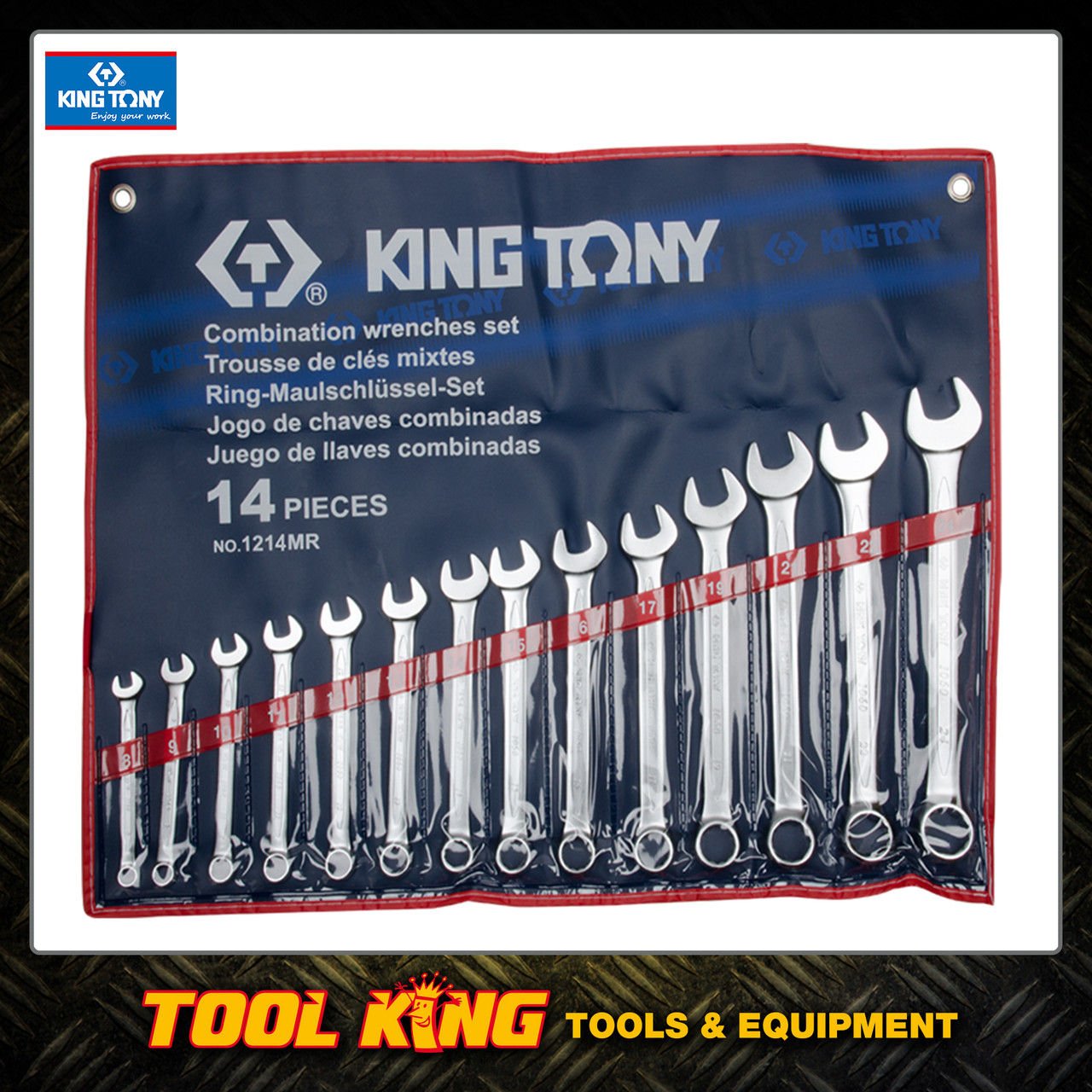 SPANNER SET COMBINATION 14pc metric King Tony 1214MR