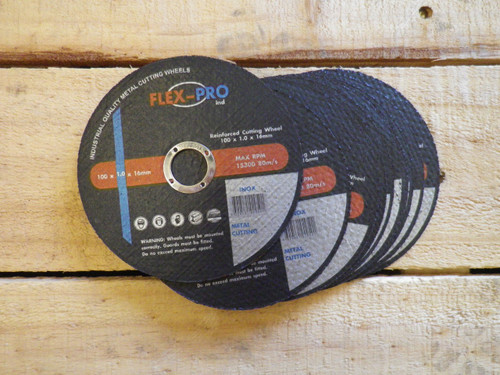 "CUTTING DISC 4"" (100mm) Ultra Thin 1.0mm BOX OF 100"