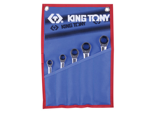 Ratchet Spanner Set 5pc Metric King Tony 12105MR